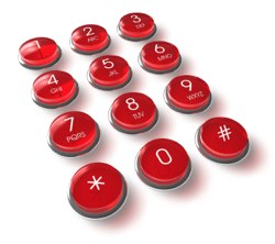 Mobile tech device keypad