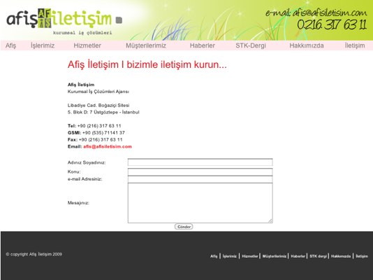 Copied contact page