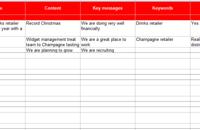 Press Release Calendar Schedule Template For 2013 Vitis Pr